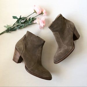 Paul Green Reese Taupe Suede Ankle Bootie sz 8
